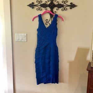 Sangria Royal Blue Cocktail Dress